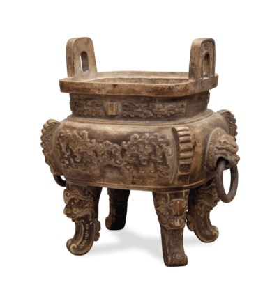 A CHINESE ARCHAISTIC POTTERY C