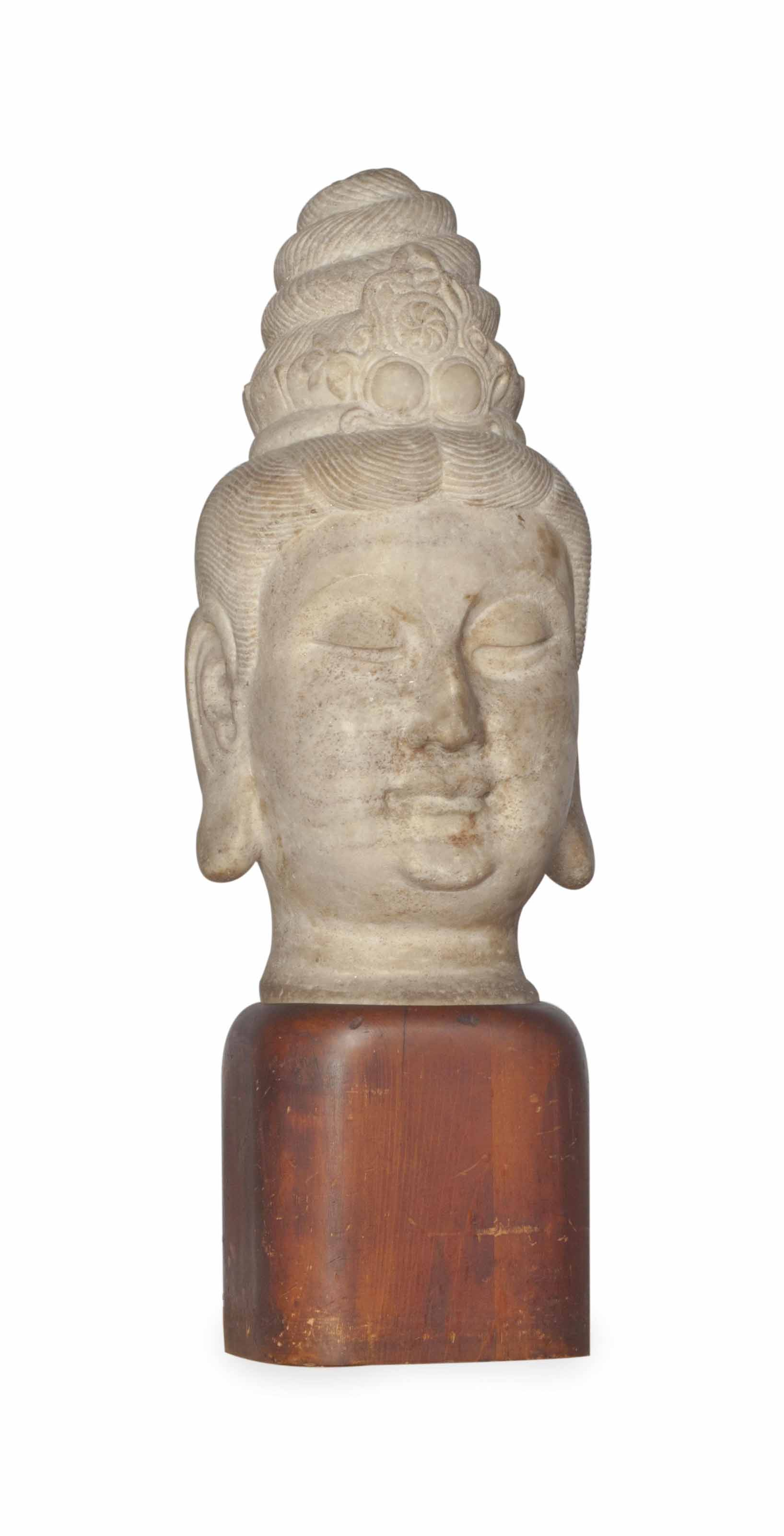 A CHINESE LARGE CARVED PALE GR