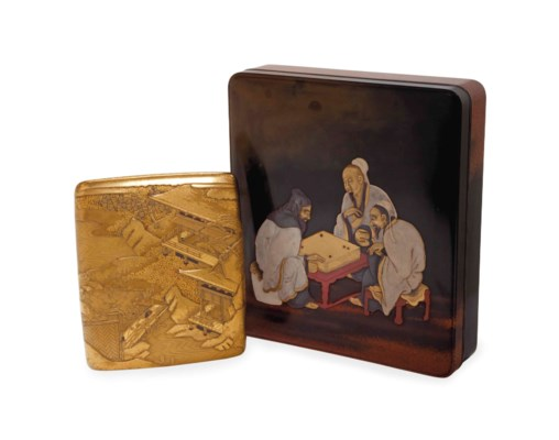 A JAPANESE LACQUER WRITING BOX