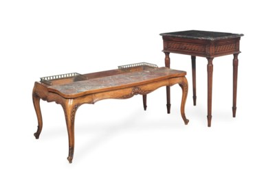 A LOUIS XVI STYLE BEECH AND MA