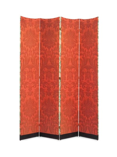 A FOUR-PANEL FLOOR SCREEN,