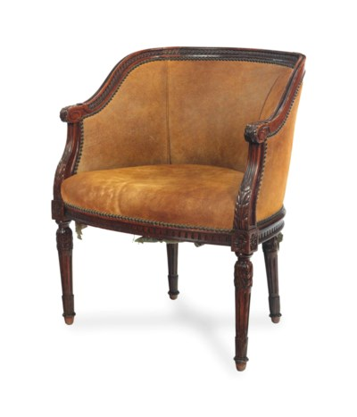 A FRENCH BEECH BERGERE,