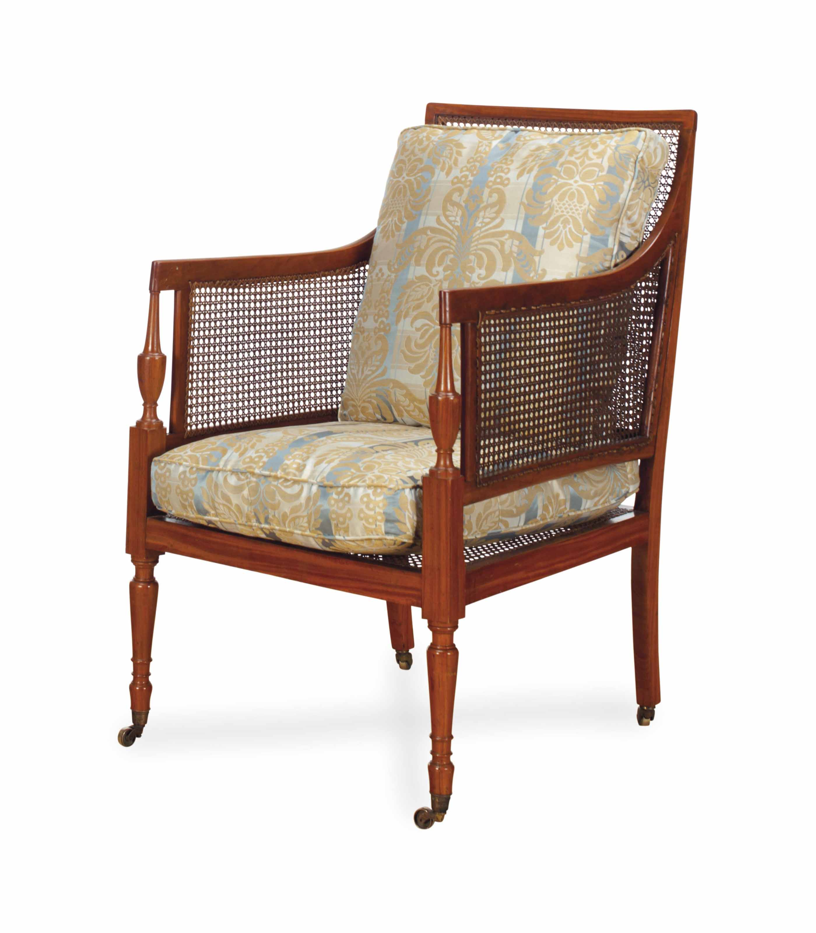 A LATE REGENCY SATINWOOD AND C