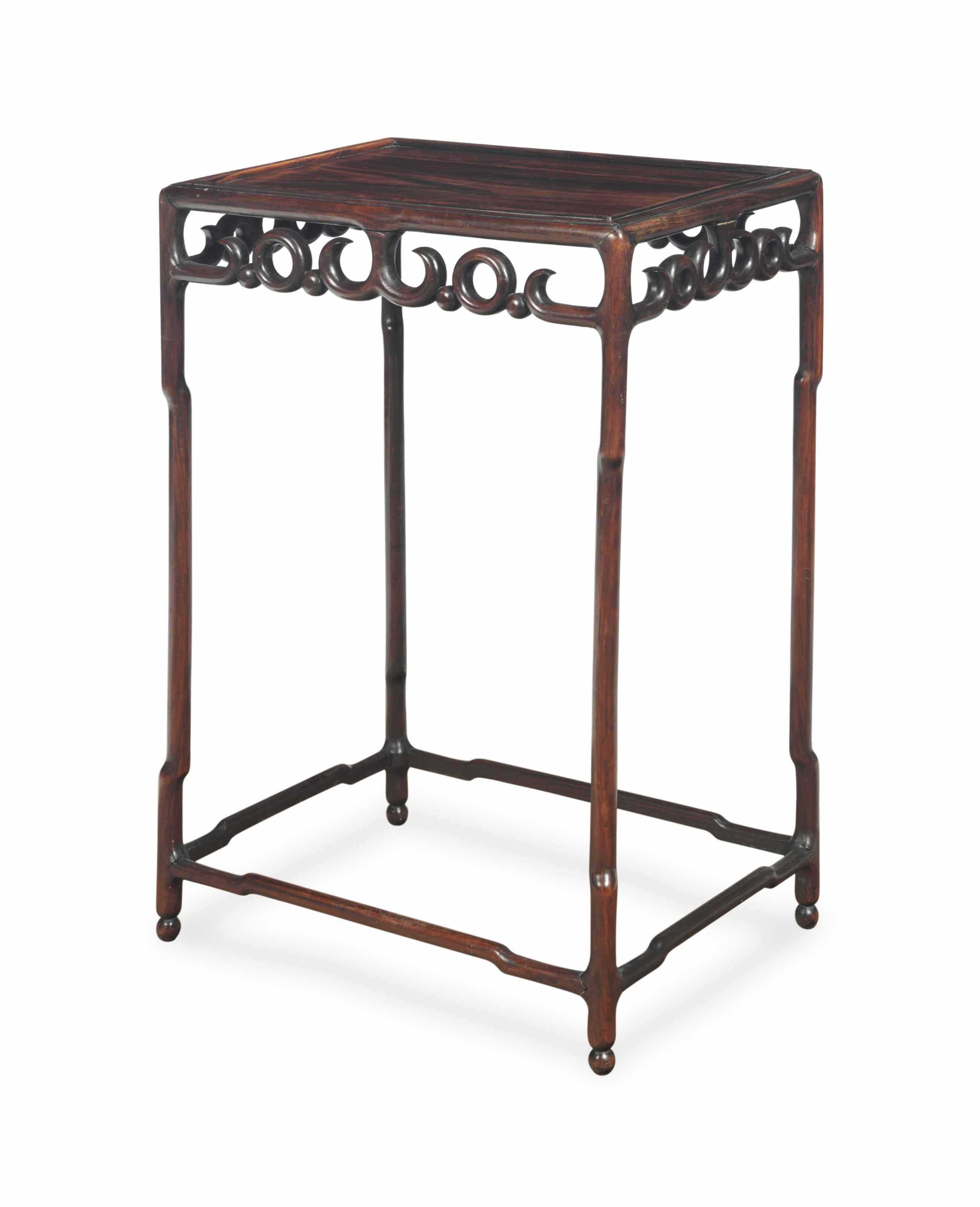 A CHINESE HONGMU SIDE TABLE,