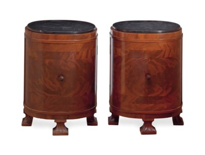 A PAIR OF FRENCH WALNUT SLATE-