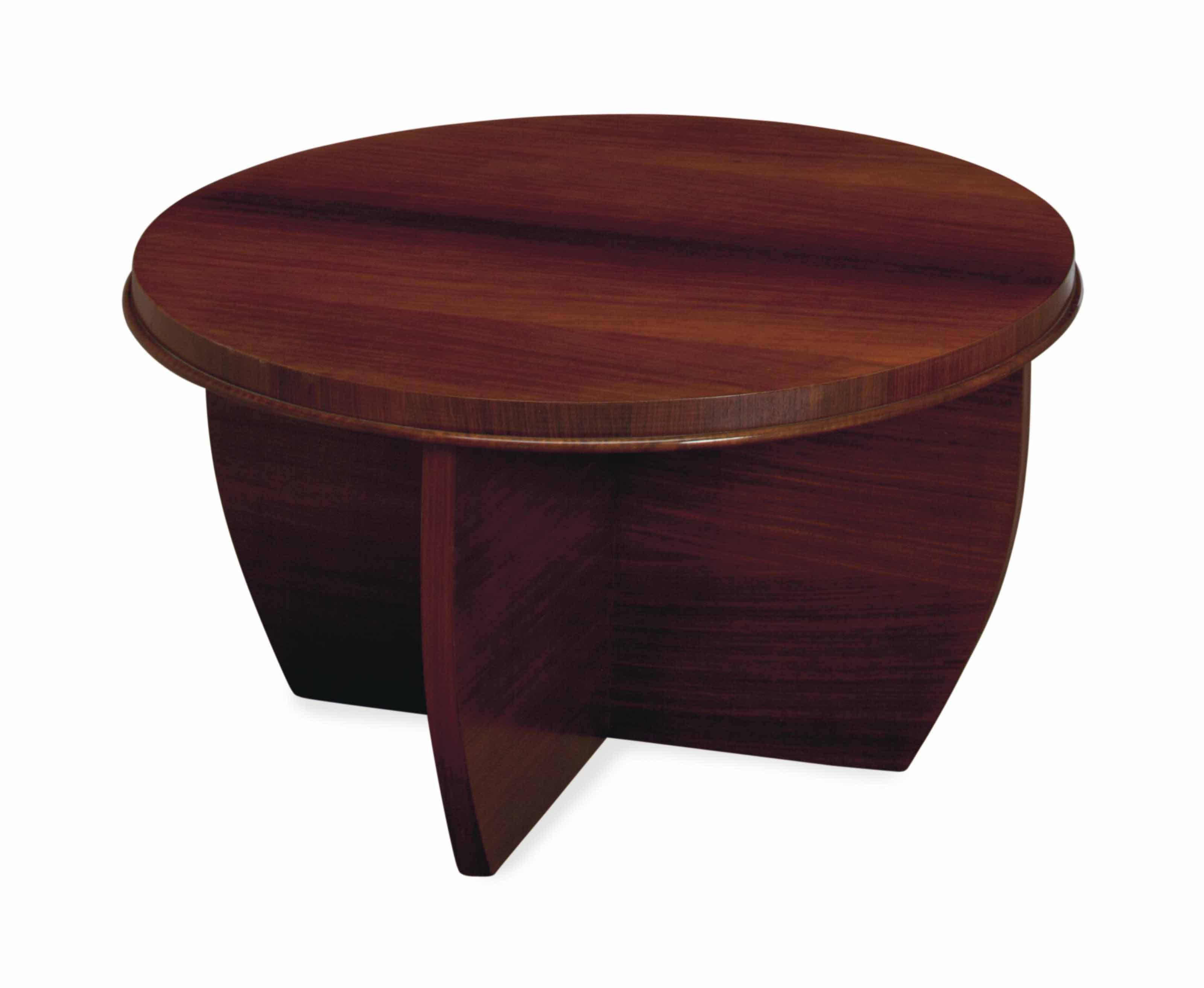 A FRENCH MAHOGANY CIRCULAR LOW TABLE,