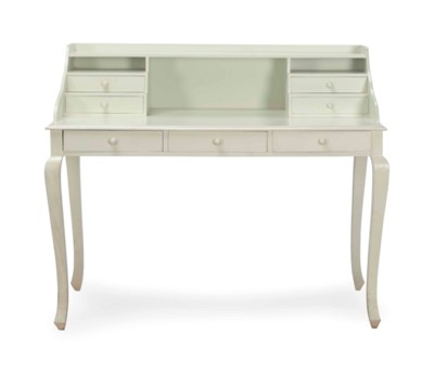 A CREAM-PAINTED WRITING DESK,