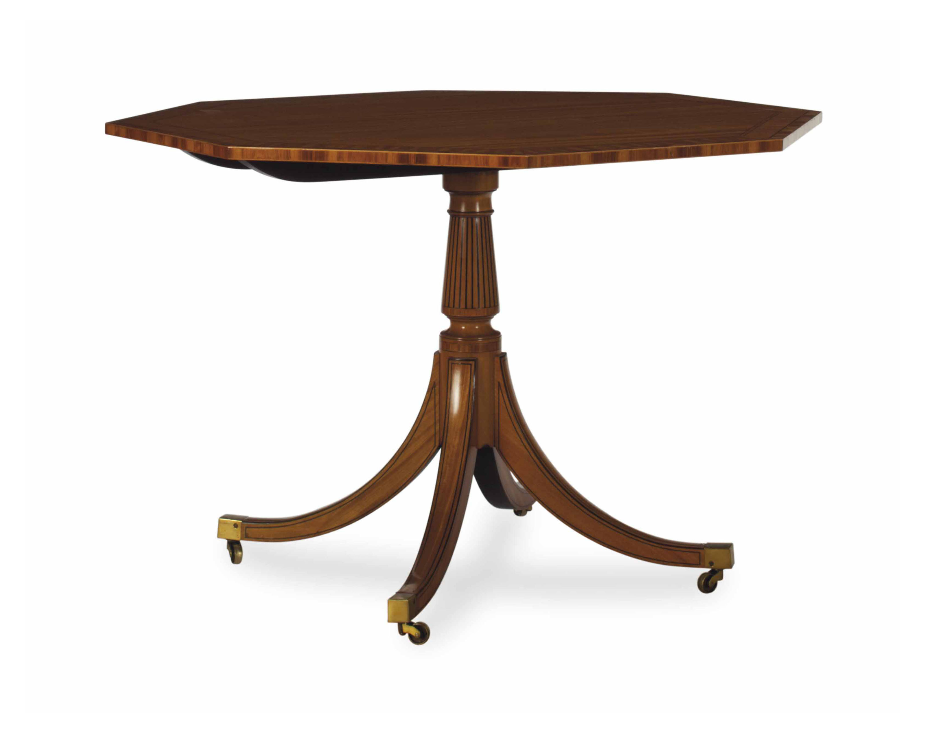 AN ENGLISH SATINWOOD AND PARCE