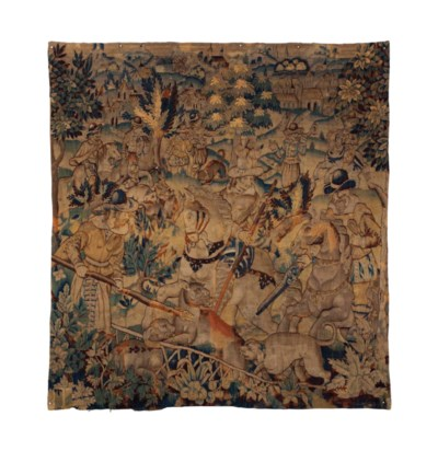 A FRENCH GAME PARK TAPESTRY,