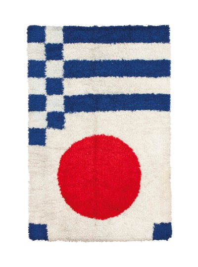 TWO MODERN RUGS,