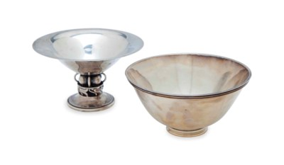 A DANISH SILVER FOOTED BOWL, A