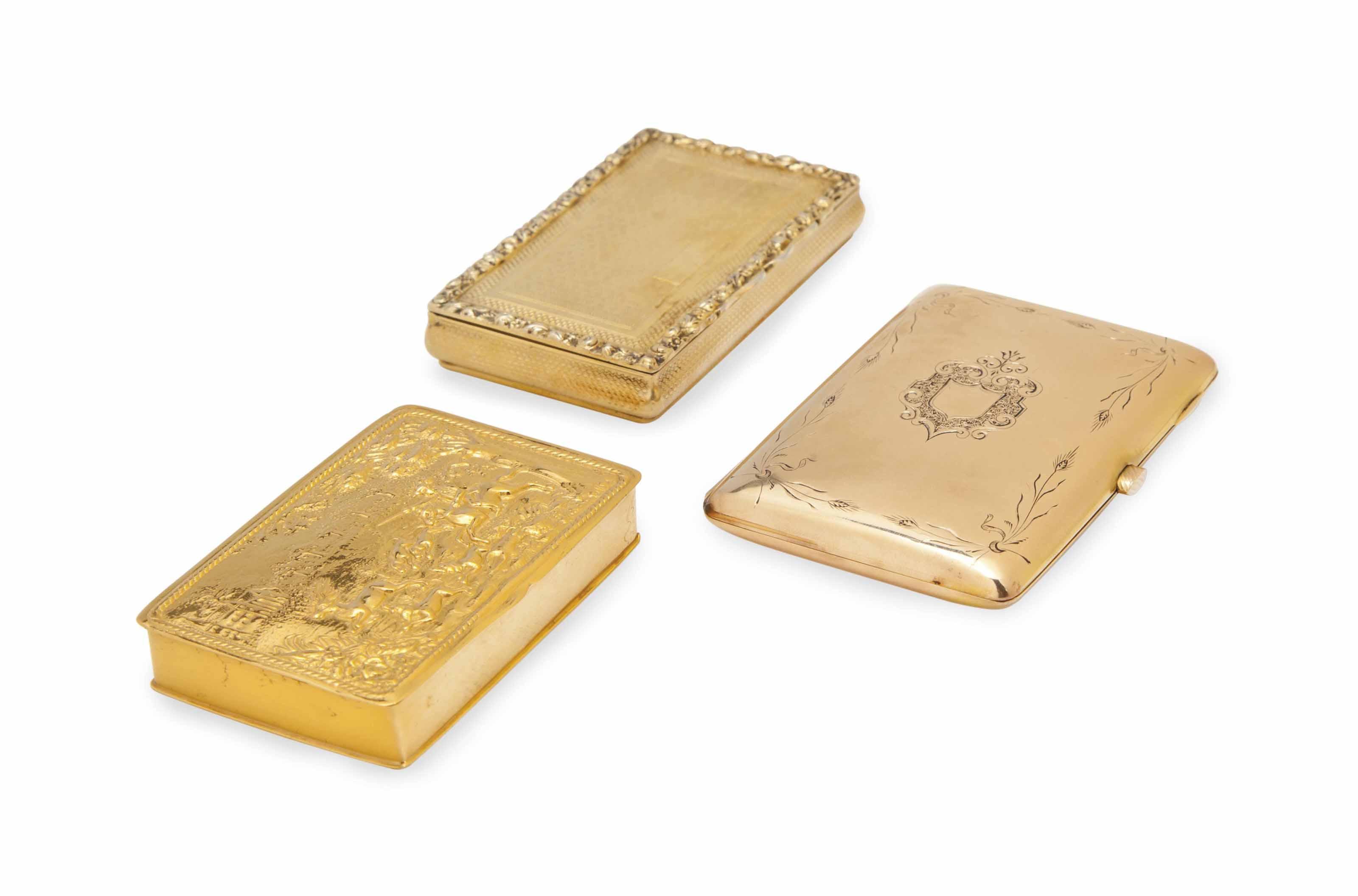 THREE CONTINENTAL GOLD CIGARET