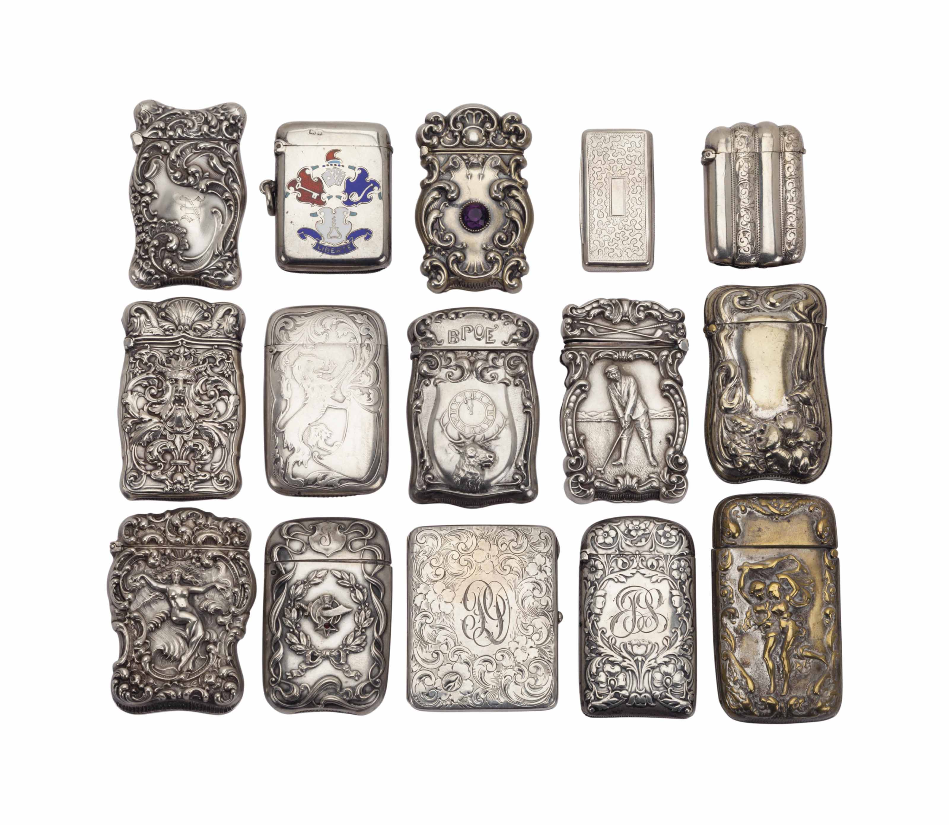 A GROUP OF SILVER VESTA CASES