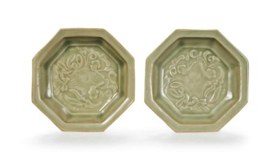 A PAIR OF CHINESE CARVED YAOZH