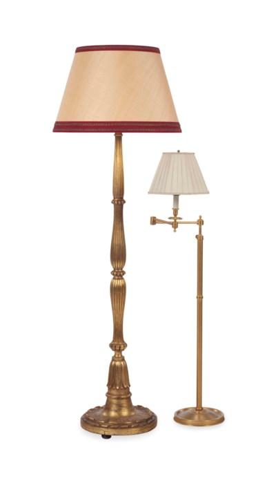 TWO FLOOR LAMPS,