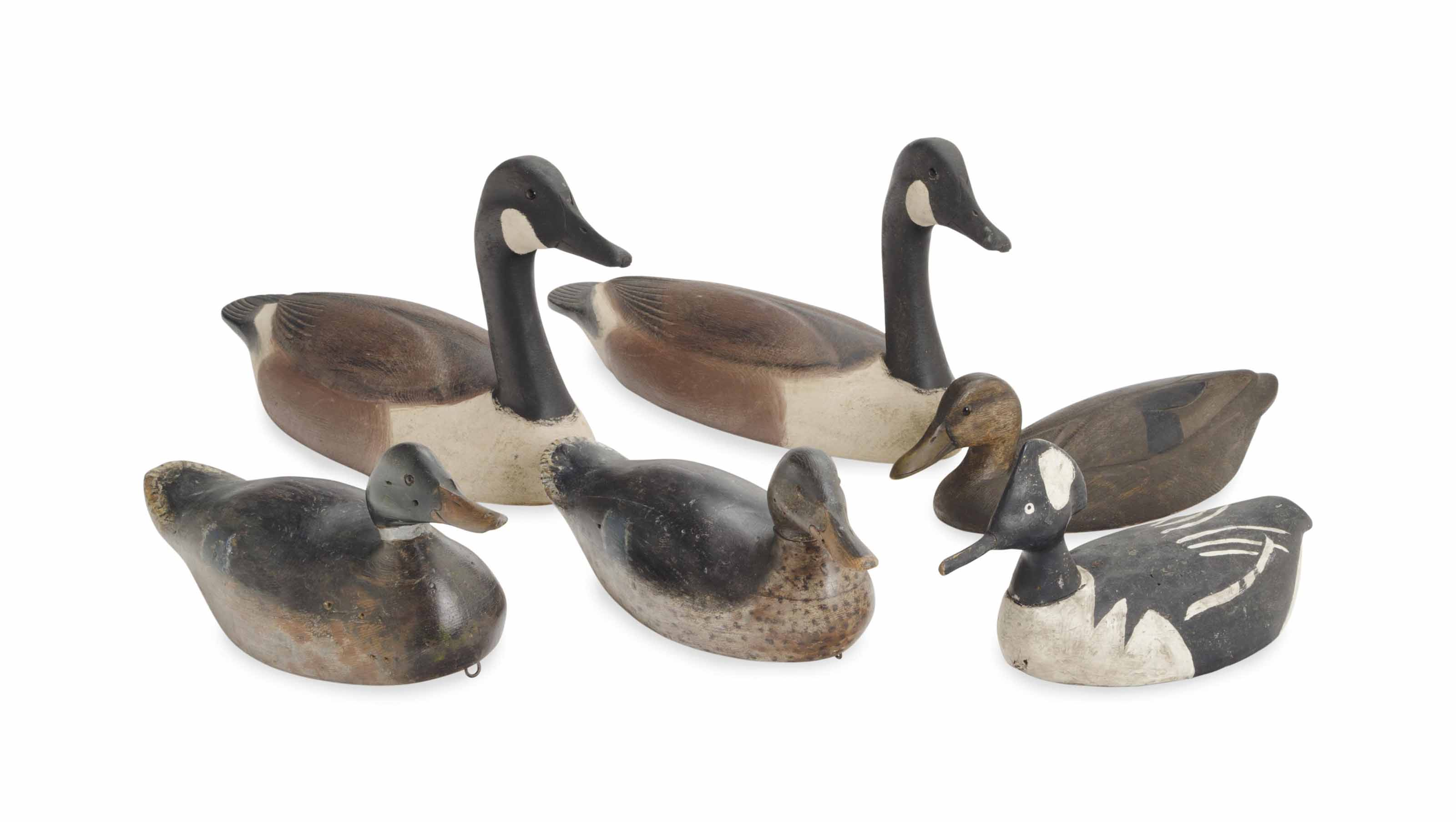 A COLLECTION OF SIX DECOYS,