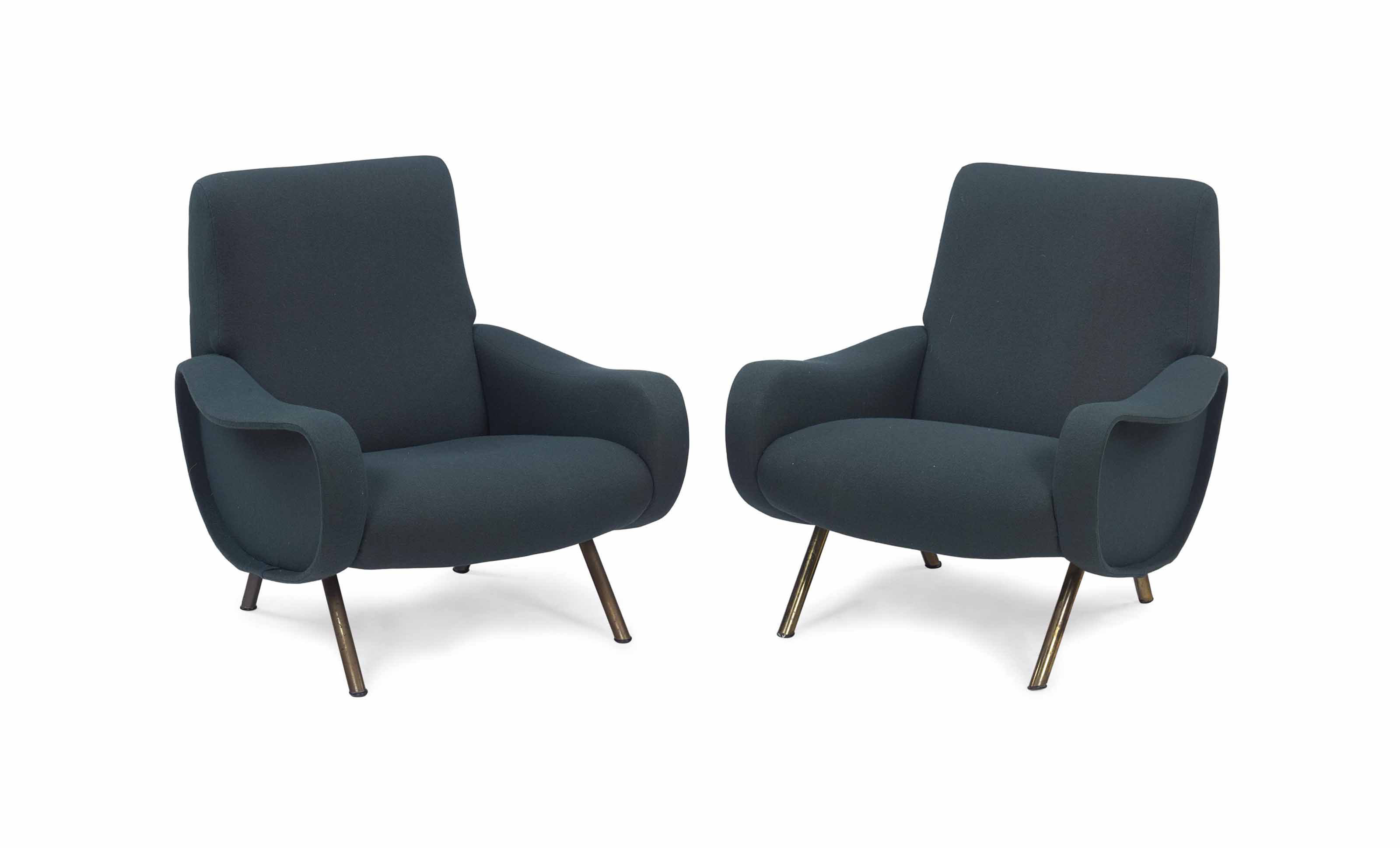 A PAIR OF 'LADY' CHAIRS,