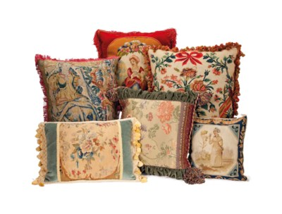 A GROUP OF EIGHTEEN TAPESTRY F