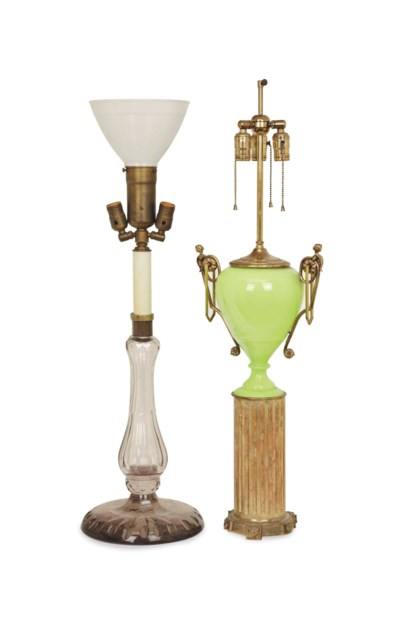 A PAIR OF GILT METAL AND GILTW
