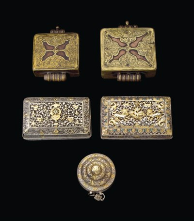 A group of three silver boxes