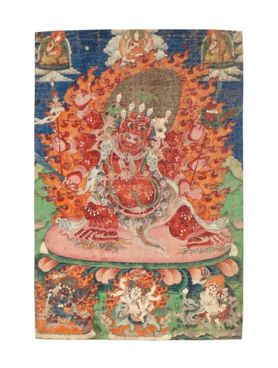 A painting of Hayagriva