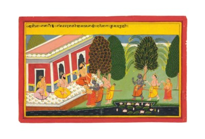 A painting from the Ramayana: