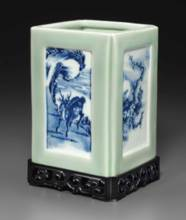 A BLUE AND WHITE AND CELADON-G