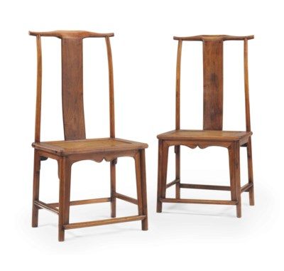 A PAIR OF HUANGHUALI LAMPHANGE
