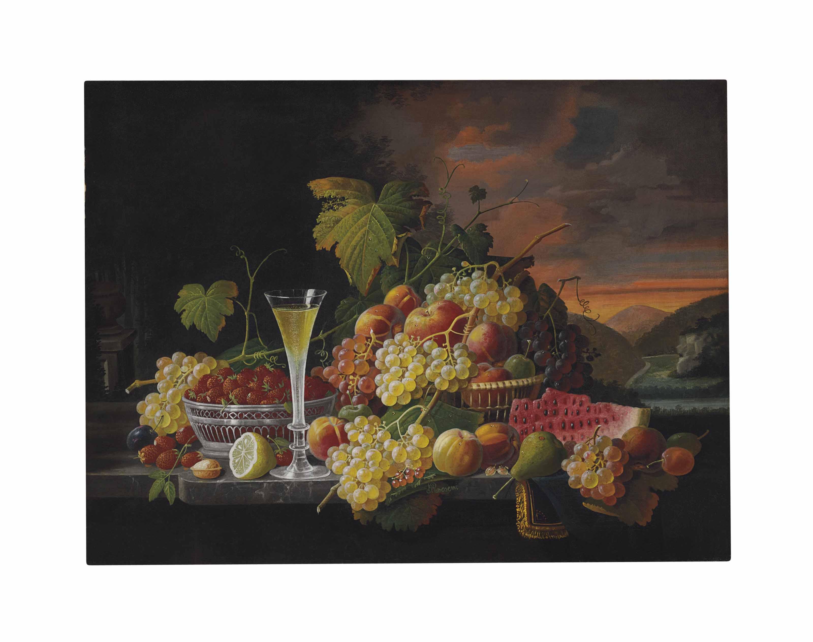 Still Life: Wine and Fruit