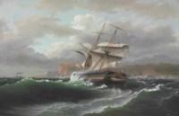 American Merchant Ship in Distress