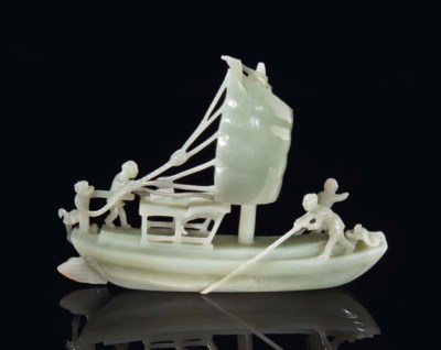 A CHINESE PALE CELADON JADE CA