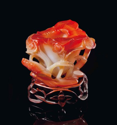 A CHINESE CARNELIAN AGATE FLOW