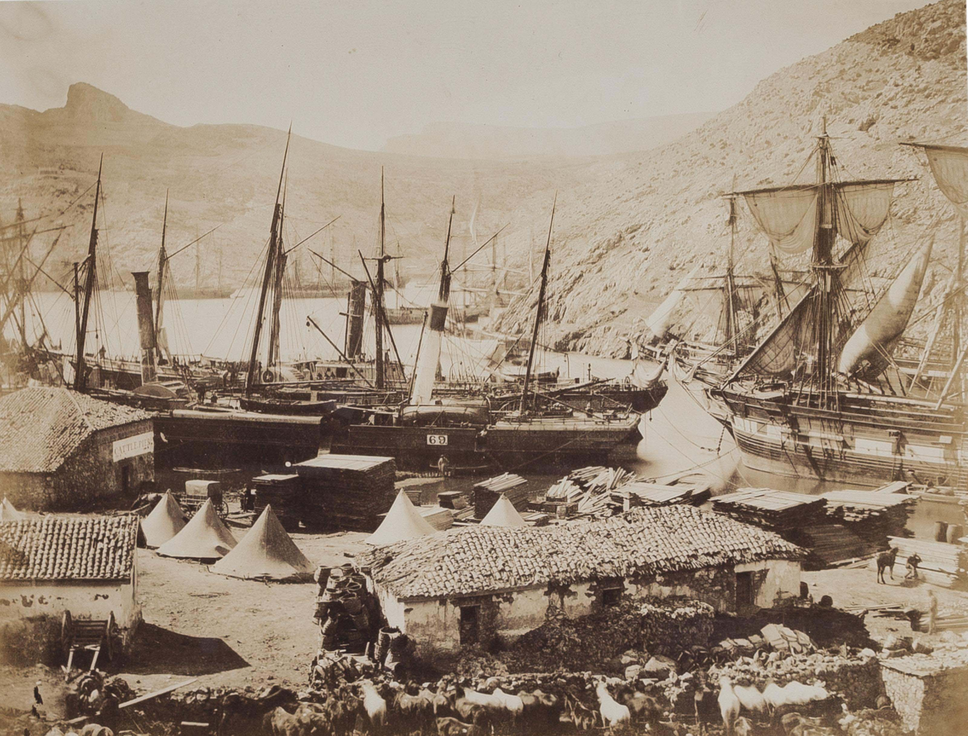 Cattle pier, Cossak Bay, Balaklava, 1856