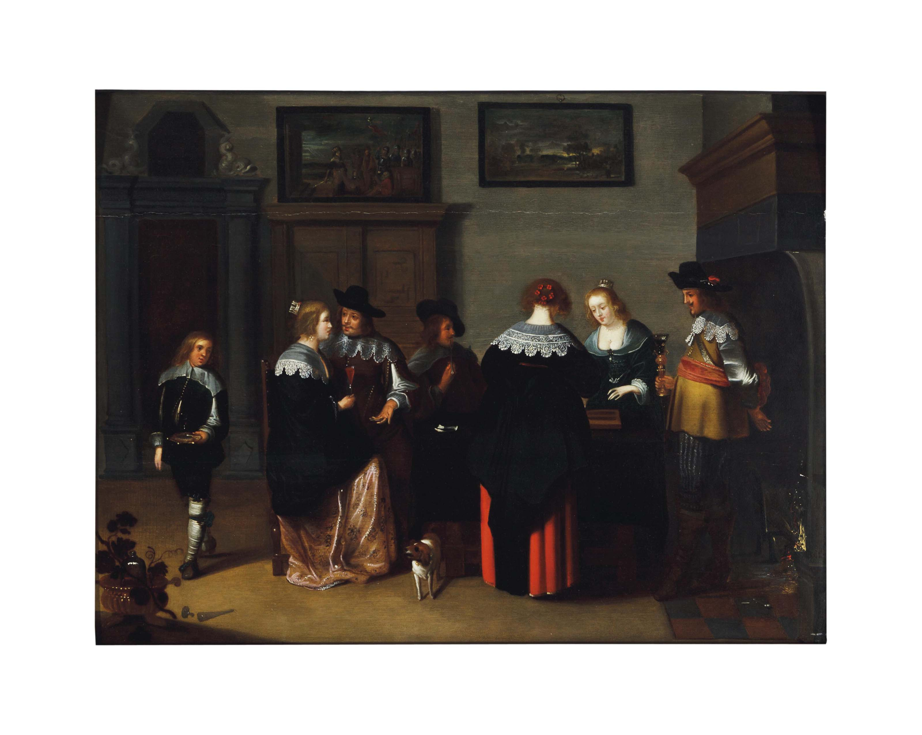 Attributed to Christoffel Jacobsz Van Der Lamen (Dutch, circa 1606-circa 1652)