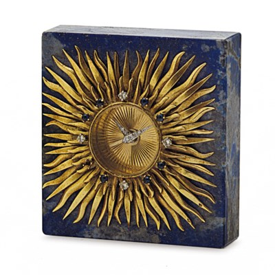 A FRENCH GOLD MOUNTED LAPIS TA