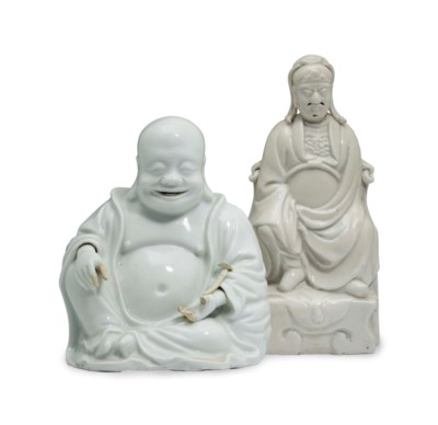 TWO CHINESE DEHUA FIGURES,