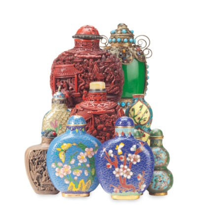 SIX CHINESE CLOISONNE ENAMEL A
