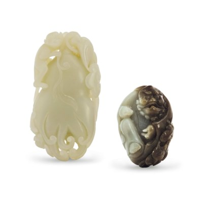A CHINESE WHITISH JADE CARVING