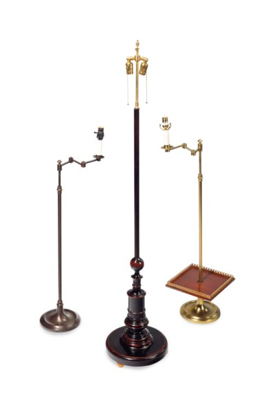 A GROUP OF SIX FLOOR LAMPS,