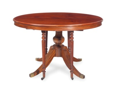 A ENGLISH MAHOGANY CIRCULAR EX