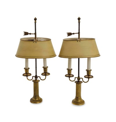 A PAIR OF GILT METAL BOULOTTE