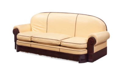 AN ART DECO STYLE TAN LEATHER
