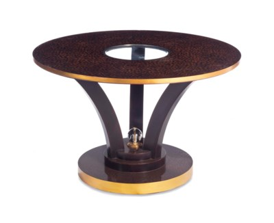 AN ART DECO STYLE LACQUERED CI