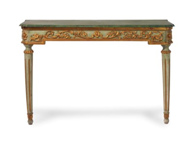 A LOUIS XVI STYLE GREEN-PAINTE