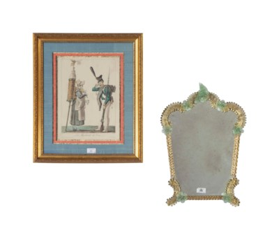 A PAIR OF FRAMED FRENCH PRINTS