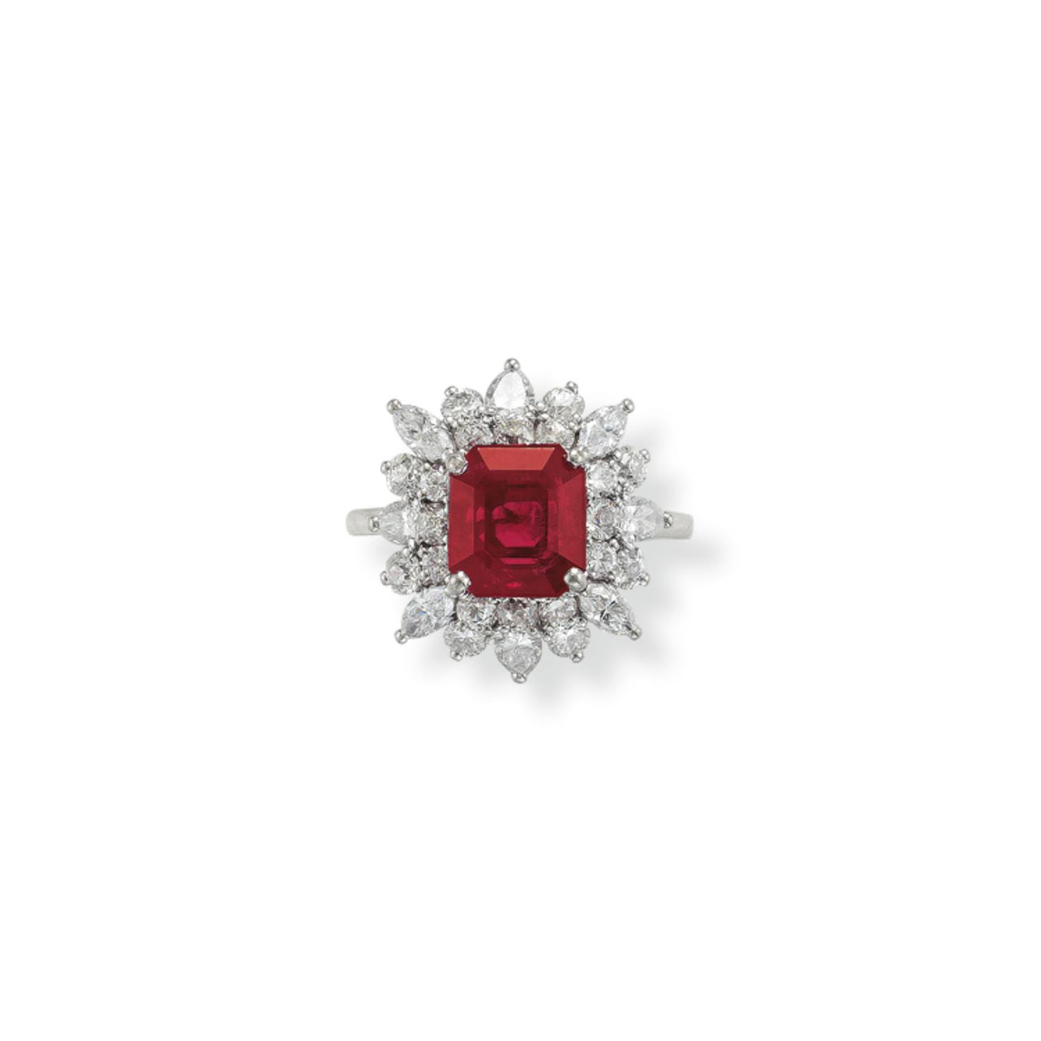 A RUBY AND DIAMOND RING, BY HENRY BIRKS