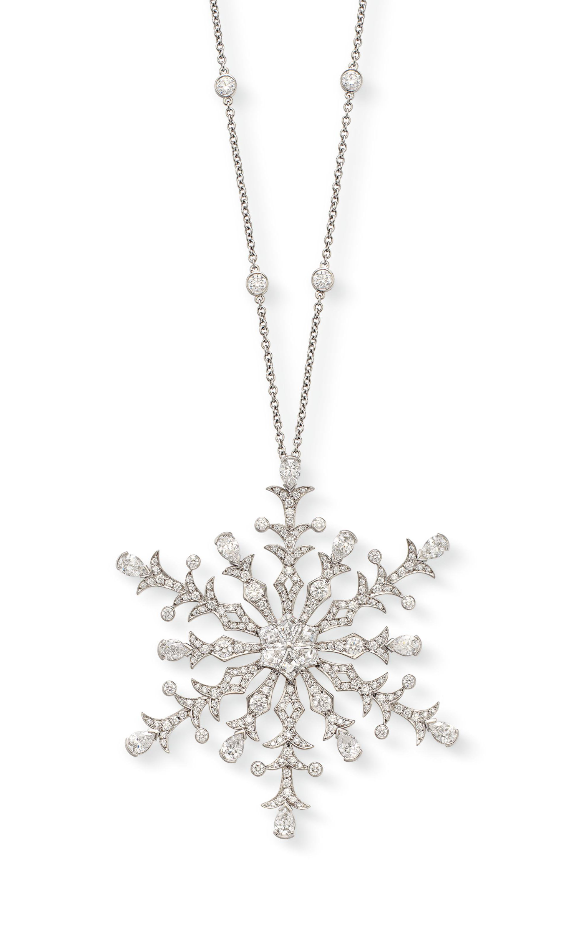 e4542cd43 A DIAMOND SNOWFLAKE PENDANT NECKLACE, BY TIFFANY & CO. | Jewelry ...