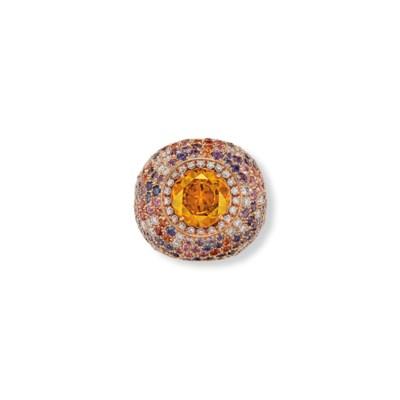 A GARNET, DIAMOND AND MULTI-GE