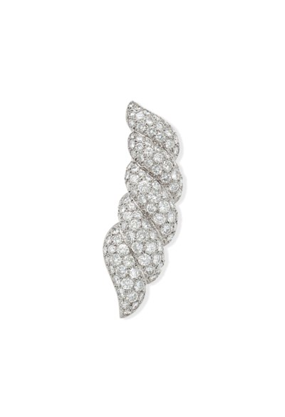 A DIAMOND BROOCH, BY SUZANNE B