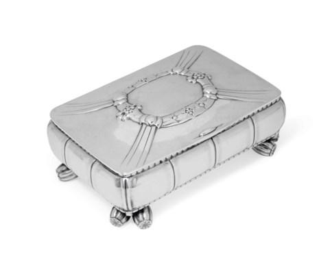 A DANISH SILVER CIGARETTE-BOX,